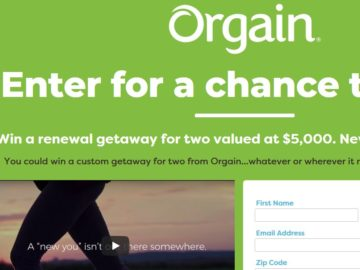 Orgain New Year. Renew You. Sweepstakes