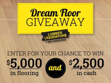 Lumber Liquidators Dream Floor Giveaway Sweepstakes