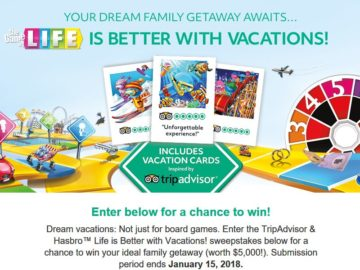 TripAdvisor Life is better with Vacations Sweepstakes