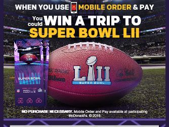 McDonald's MOBILE ORDER & PAY Sweepstakes