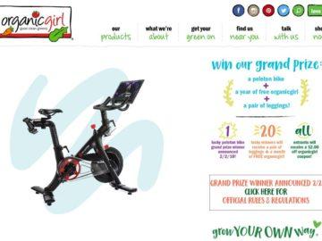 ORGANICGIRL Prize Giveaway Sweepstakes