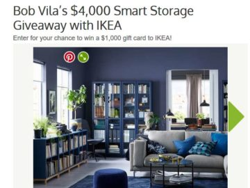 Bob Vila's Smart Storage Giveaway with IKEA Sweepstakes