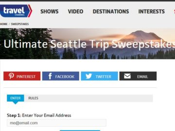 Travel Channel's Ultimate Seattle Trip Sweepstakes