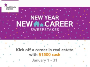 Real Estate Express New Year New Career Sweepstakes