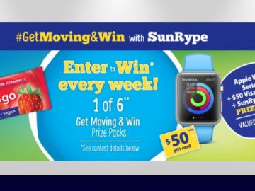 SunRype USA – #GetMoving&Win Sweepstakes – Facebook