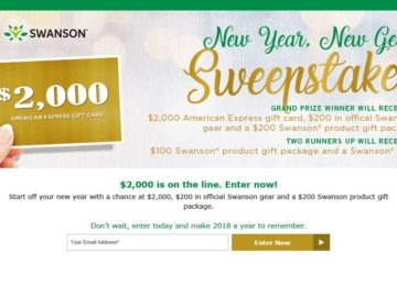 Swanson New Year Kickoff Sweepstakes