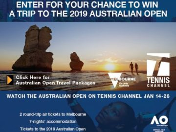 Tennis Channel's 2019 Australian Open Trip Giveaway Sweepstakes
