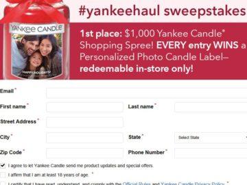 Yankee Candle Haul Sweepstakes