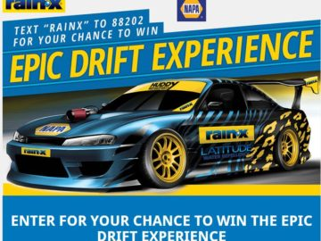 RAIN-X and NAPA DRIFT Experience Sweepstakes