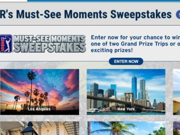 PGA TOUR Must See Moments Sweepstakes