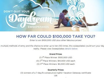 Wyndham Vacation Resorts Don't Quit Your Daydream Sweepstakes