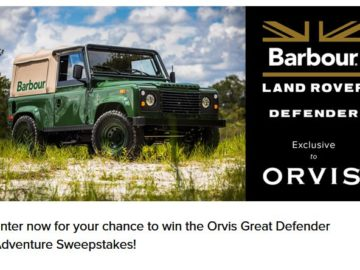 Orvis Barbour Land Rover Sweepstakes