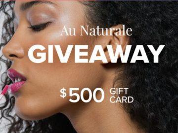 Win a $500 Au Naturale Cosmetics Gift Card