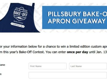 Pillsbury Bake-Off Contest Apron Sweepstakes