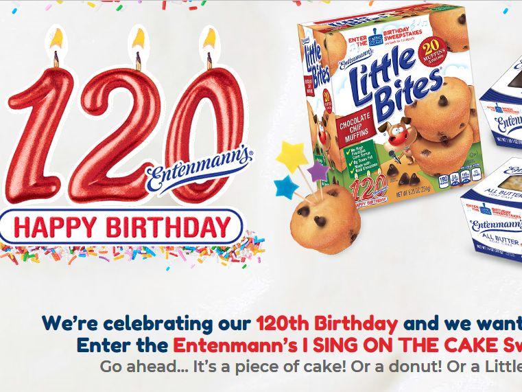 Entenmanns 120th Birthday Celebration Sweepstakes