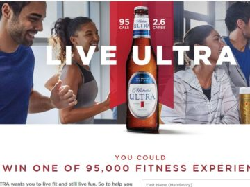 Michelob Ultra 95,000 Fitness Experiences Instant Win Game