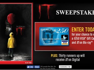 Warner Bros. IT Sweepstakes – Facebook