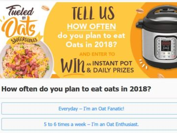 Oats Everyday 'Fueled by Oats' Sweepstakes