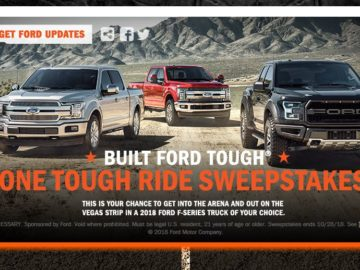 Professional Bull Riders Built Ford Tough One Tough Ride Sweepstakes