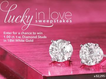 Win a pair of 1.00 ct. t.w. Diamond Stud Earrings
