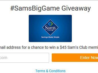 Win a $45 Sam's Club Gift Card