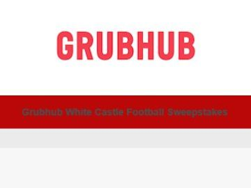 Grubhub White Castle Football Sweepstakes