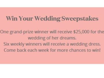 David's Bridal Win Your Wedding Sweepstakes