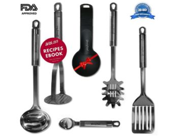 INSTANTLY WIN a Classic Stainless Steel Kitchen Utensils Set