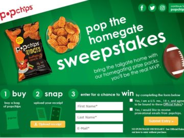 "PopChips ""Pop a Homegate"" Sweepstakes"