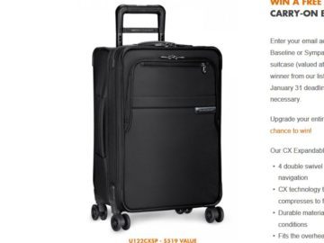 Briggs-Riley.com Carry-On Giveaway Sweepstakes