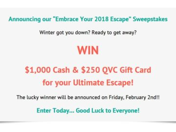 Quacker Factory's Embrace Your 2018 Escape Sweepstakes
