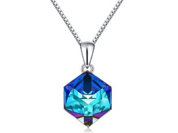 INSTANTLY WIN a Blue Swarovski Crystals Pendant Necklace