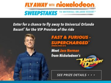 Fly Away with Nickelodeon Sweepstakes