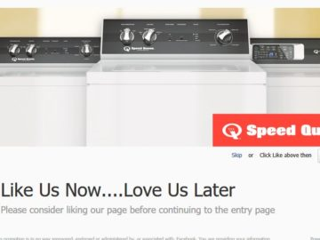 Win a Speed Queen Washer and Dryer