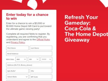 Coca-Cola & The Home Depot Game Day Giveaway Sweepstakes