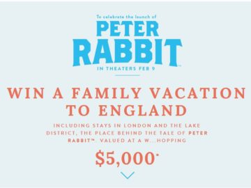 Joules Limited's Peter Rabbit Sweepstakes