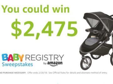 Win a $2,475.00 Amazon.com Gift Card
