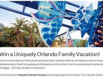 VisitOrlando Uniquely Orlando Sweepstakes