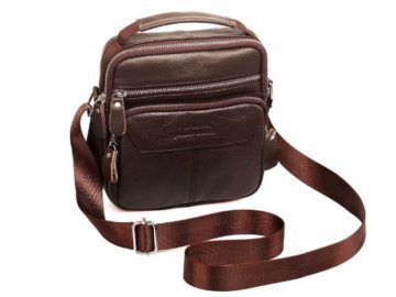 INSTANTLY WIN a Small Leather Messenger Handbag
