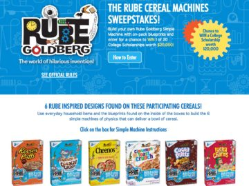 General Mills Rube Cereal Machines Sweepstakes