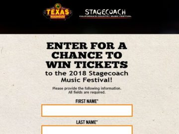 Texas Roadhouse Stagecoach Giveaway Sweepstakes