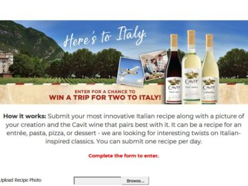 "Cavit ""Here's To Italy"" Contest"