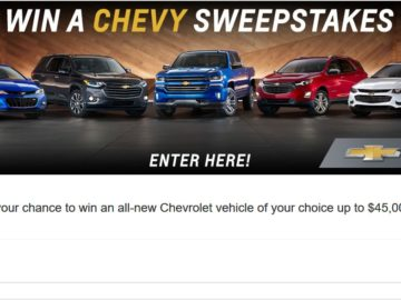 Win a Chevrolet Vehicle – Limited States
