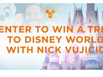 Walt Disney with Nick Vujicic Sweepstakes