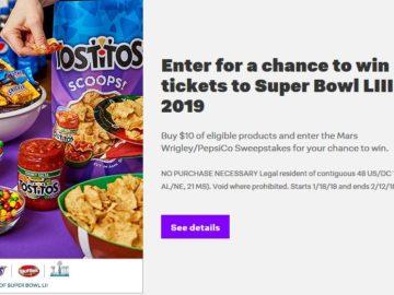 Jet Pepsico/Mars Wrigley Super Bowl Sweepstakes