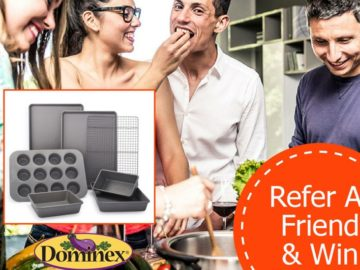 Win a 7-Piece Sur La Table Bakeware Set & Dominex Products (Facebook)