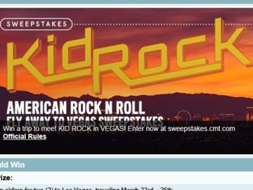 Kid Rock's AMERICAN ROCK 'N ROLL Fly Away to Vegas Sweepstakes!