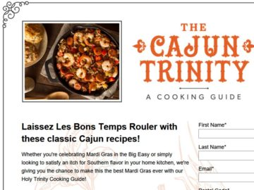 Holy Trinity of Cajun Cooking Sweepstakes