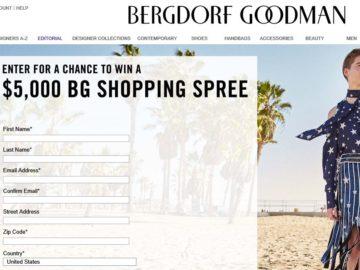 Win a $5,000 Bergdorf Goodman Shopping Spree