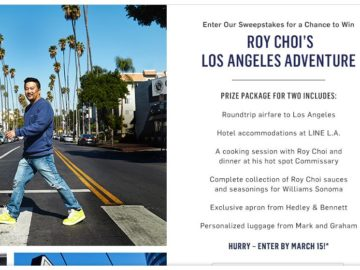 Williams Sonoma Roy Choi's Los Angeles Adventure Sweepstakes